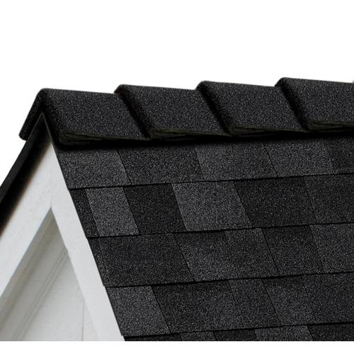 Owens Corning DecoRidge 20-lin ft Onyx Black Hip and Ridge Roof Shingles
