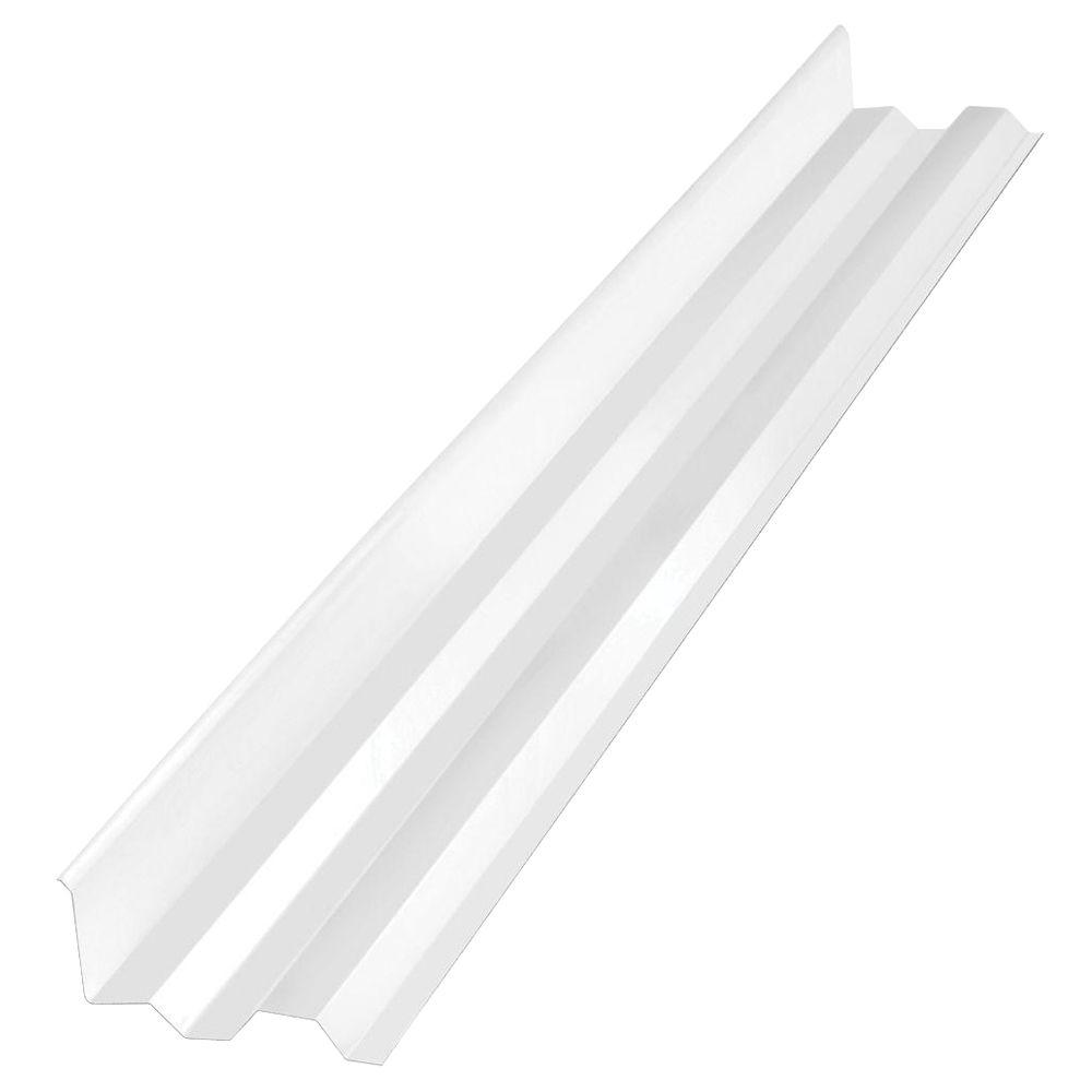 4 ft. White Opal Polycarbonate Roof Panel Side Ridge