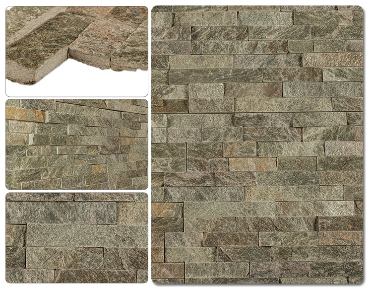 Cabot Natural Ledge Stone/Quartzite Finished Slate - Sage Green / Ledge Stone / 6'x24'