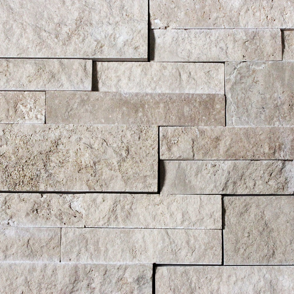 Cabot Natural Ledge Stone/Travertine - Durango Cream / Ledge Stone / 6'x24'