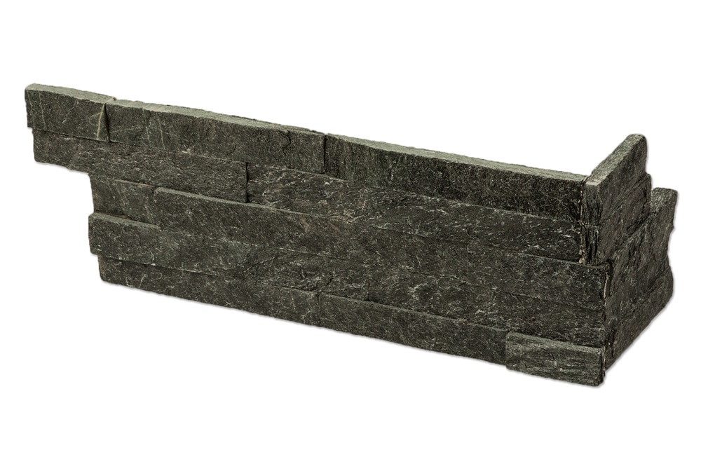 Roterra Stone Siding - Quartzite Finished Slate Collection/Quartzite Finished Slate / Stone Age Black / LS Corner 6'x18'x6'
