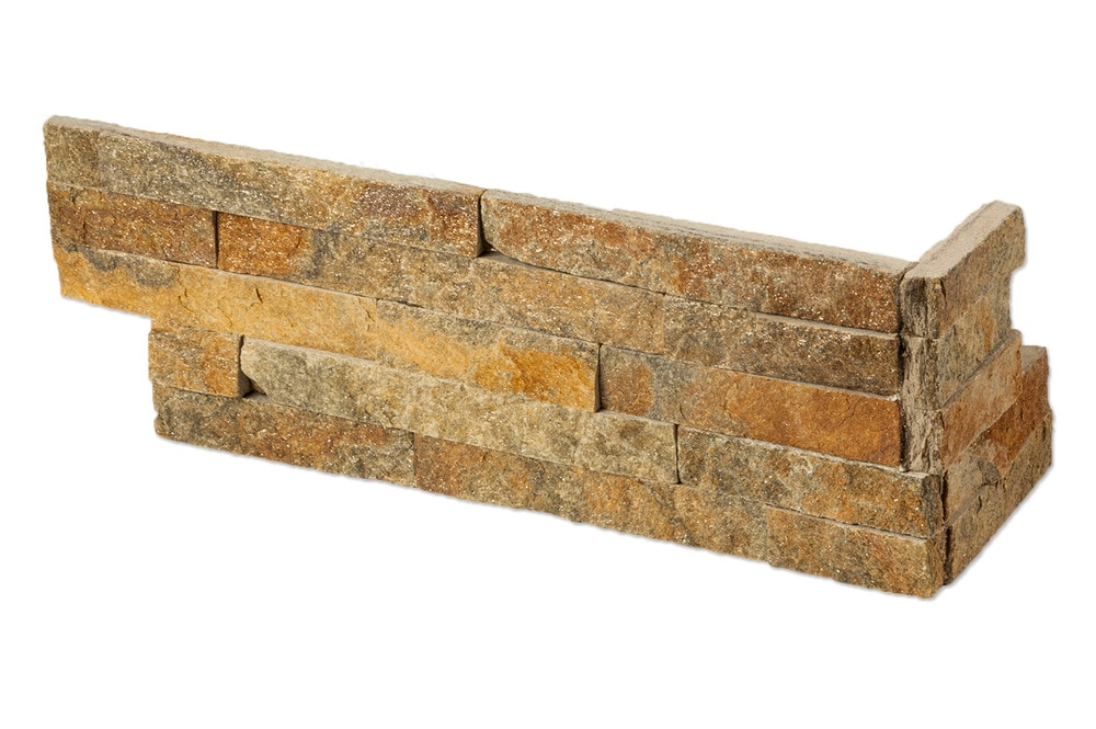Roterra Stone Siding - Quartzite Finished Slate Collection/Quartzite Finished Slate / Golden Autumn / LS Corner 6'x18'x6'