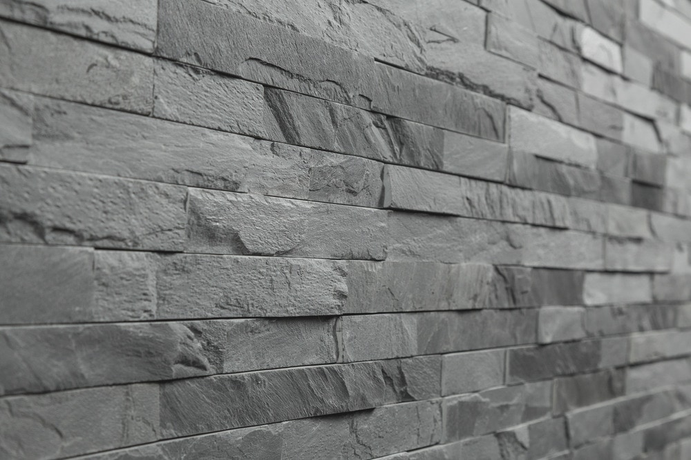Roterra Stone Siding - Slate Collection/Ledge Stone / Black Slate Thin Stone 4'x18'