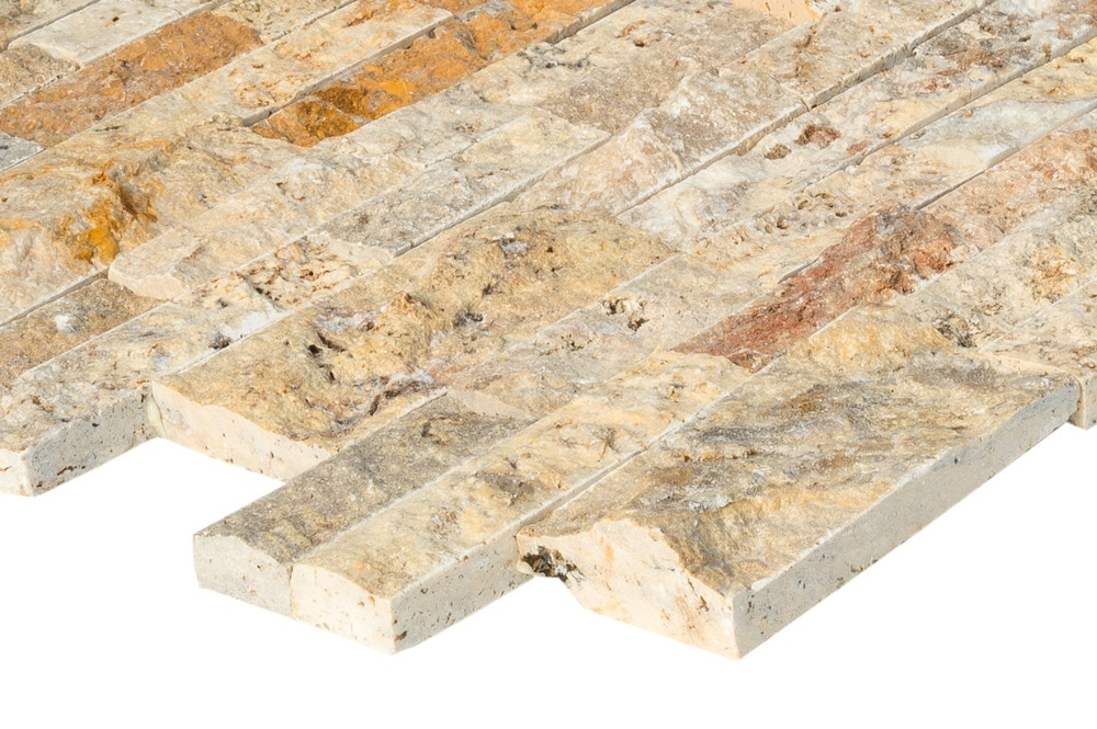 Iva Stone Premium Siding - Travertine Collection/Split Face Ledge Stone / Scabas / 6'x24'
