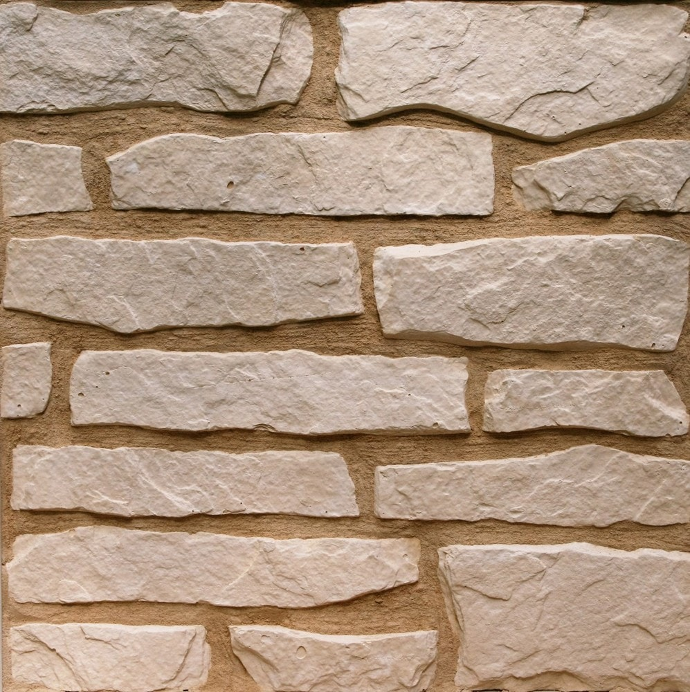 Stone Design Thin Gypsum Stone-Look Wall Decor / Contemporary/Yellow / 21.5 sqft Flat