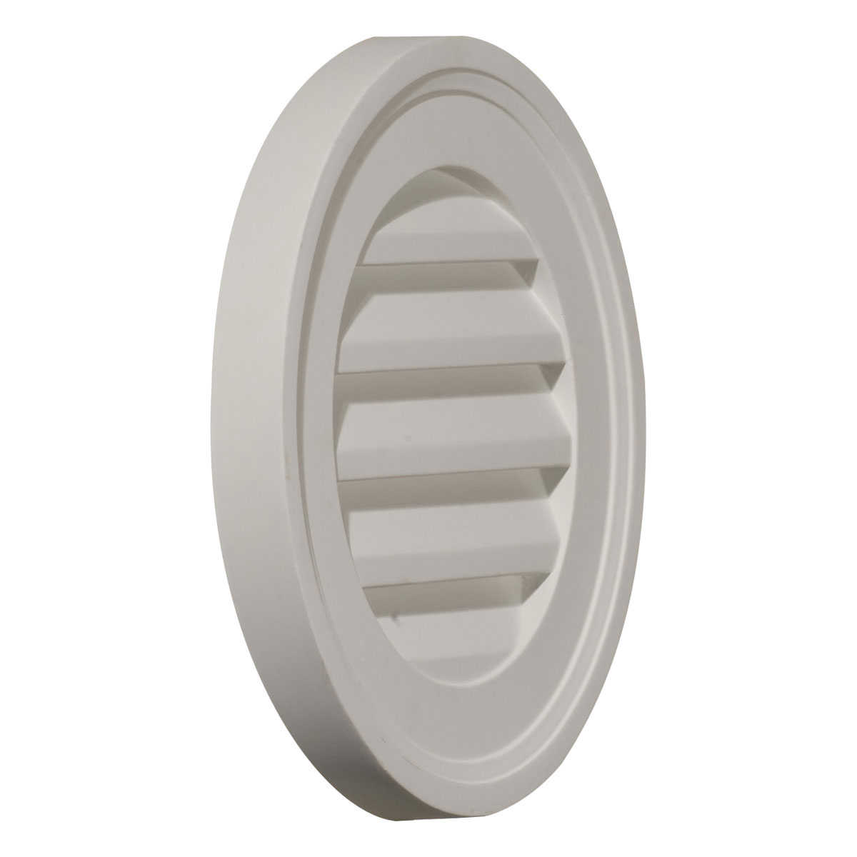 12'W x 12'H x 1 3/8'P, Round Gable Vent Louver, Decorative