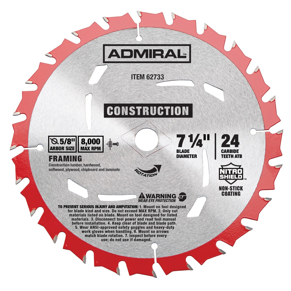 7-1/4 in. 24T Framing Circular Saw Blade