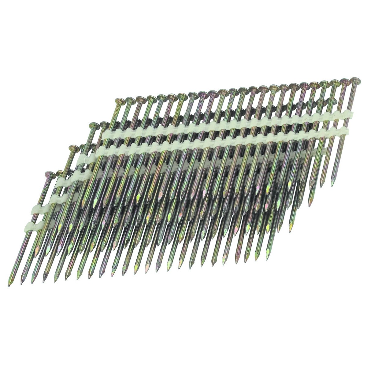 21 3-1/4 in. 10 Gauge Galvanized Smooth Shank Nails 2000 Pc