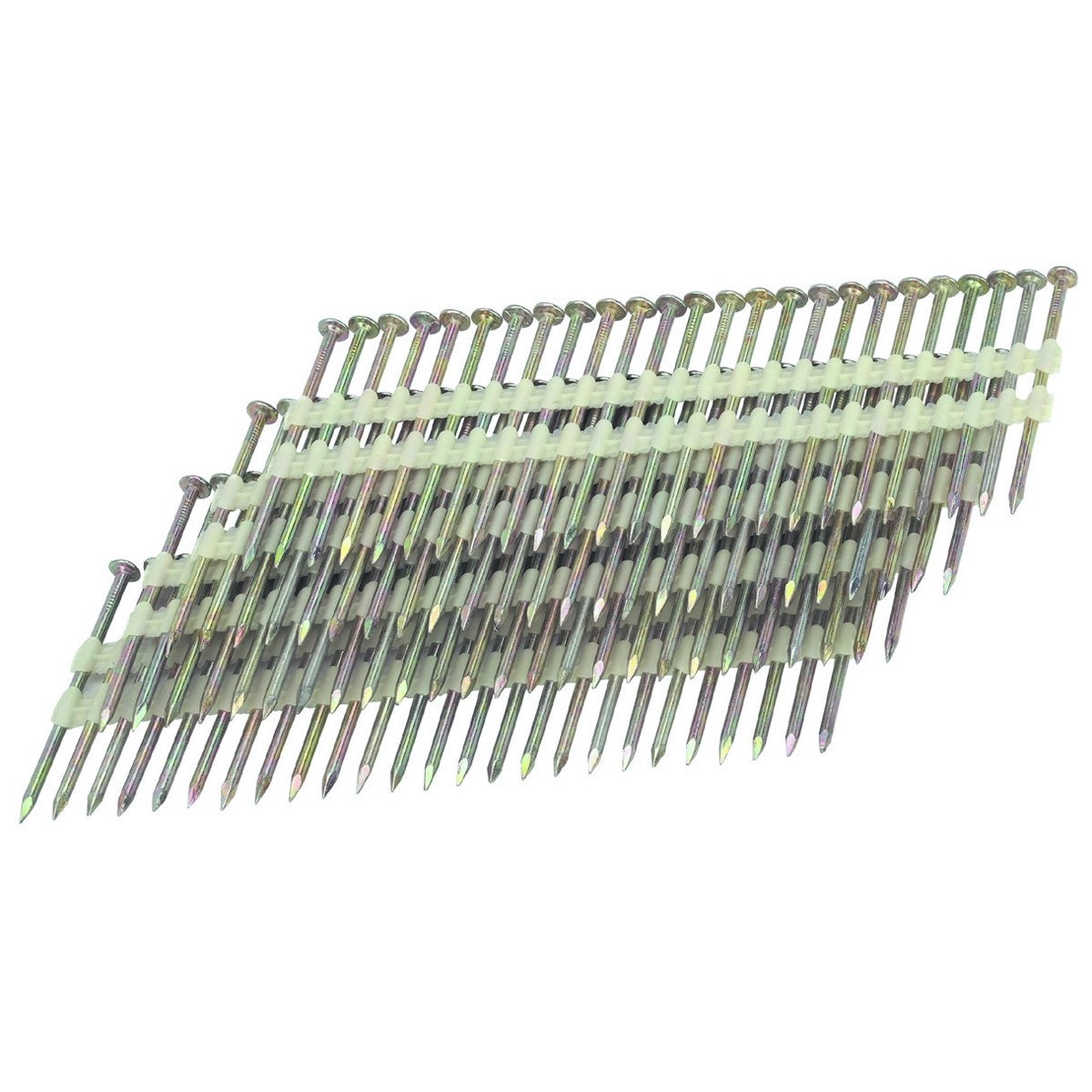 21 2-1/2 in. 10 Gauge Galvanized Smooth Shank Nails 2000 Pc