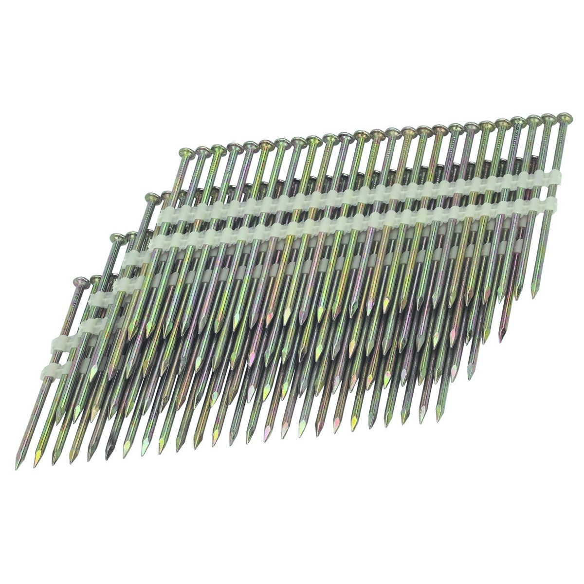 21 3-1/2 in. 10 Gauge Galvanized Smooth Shank Nails 2000 Pc