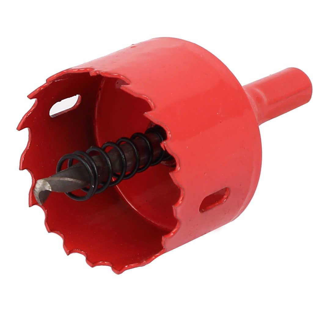 45mm Cutting Dia M42 HSS Spring Loaded Bi-Metal Hole Saw Drilling Tool Red